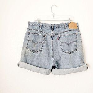 Levi's Vintage Distressed High Rise Jean Shorts